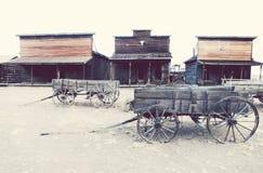 老足迹镇, Cody,怀俄明,美国 免版税库存图片