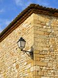 老路灯柱在南法国 免版税库存照片