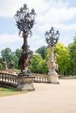 老路灯柱在Sanssouci公园 库存照片