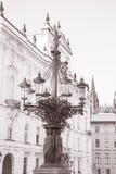 老路灯柱设计由Vesely (1868);布拉格;捷克;EU 免版税图库摄影