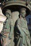 老路灯柱设计;布拉格 免版税库存图片