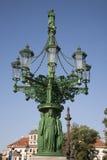 老路灯柱,布拉格 库存照片
