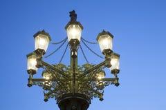 老路灯柱;布拉格 免版税库存照片