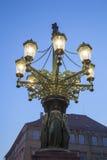 老路灯柱;布拉格 免版税图库摄影
