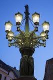 老路灯柱;布拉格 免版税库存图片