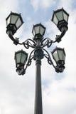 老路灯柱 免版税图库摄影