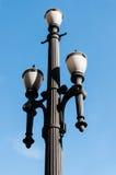 老路灯柱 库存照片