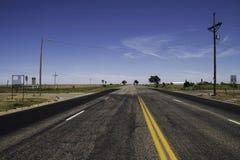 老路线66在得克萨斯 免版税库存照片