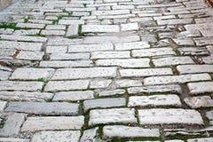 老路罗马帝国时间 克罗地亚普拉 库存照片