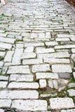 老路罗马帝国时间 克罗地亚普拉 免版税库存照片