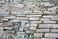 老路罗马帝国时间 克罗地亚普拉 免版税图库摄影