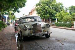 老车的琅勃拉邦,老挝 库存图片