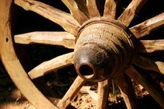 老车轮 免版税图库摄影