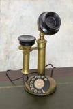 老转台式电话 库存图片