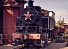 老转轨的机车9PM-161 免版税库存图片