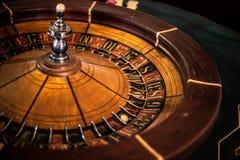 老轮盘赌的赌轮 免版税图库摄影