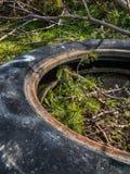 老轮胎狂放的转储  图库摄影