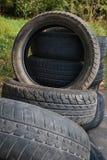老轮胎视图 图库摄影