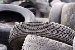 老轮胎 库存照片