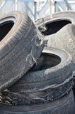 老轮胎 库存图片