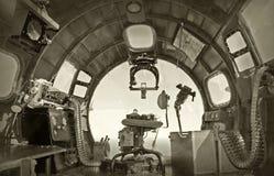 老轰炸机驾驶舱 图库摄影