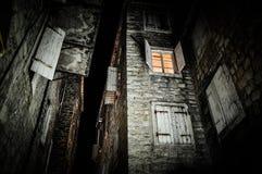 老达尔马希亚房子 免版税库存图片