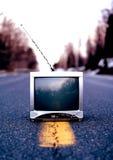 老过时的电视 库存照片
