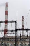 老运作的能源厂 库存照片
