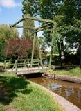 老运河升降吊桥 免版税库存图片