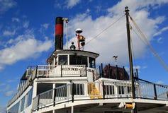 老运转的汽船, Minne哈哈,湖乔治,纽约, 2015年 库存图片