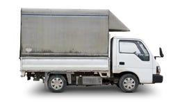 老送货卡车-包括的裁减路线 免版税库存照片