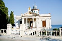 老避暑别墅有某一共济会的标志在王子海岛, Buyuk Ada伊斯坦布尔 图库摄影