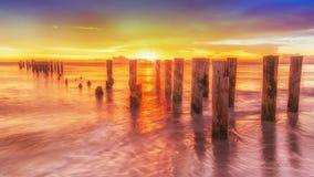 老那不勒斯码头,佛罗里达美国 免版税库存照片