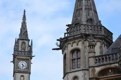老邮局塔在跟特,比利时 免版税库存图片