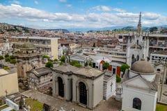 老部分基多显示的圣地亚哥公墓伟大 免版税库存图片