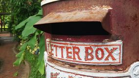 老配件箱邮件 库存照片
