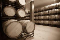老酿酒厂葡萄酒照片  库存图片