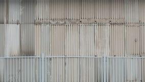老金属大厦纹理 免版税库存照片