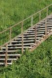 老金属楼梯 免版税库存图片