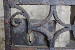 老金属锁定 免版税库存图片