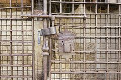 老金属锁定 库存照片