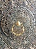 老金属门亚美尼亚 免版税库存照片