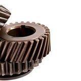 老金属零件齿轮 免版税库存照片