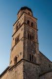 老钟楼在杜布罗夫尼克,克罗地亚 库存照片