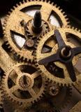老钟表机构适应特写镜头 库存照片