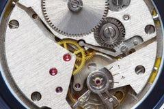 老钟表机构金属 免版税库存照片