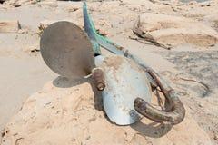 老钢小船 库存图片