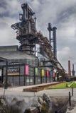 老钢熔炉在Parque Fundidora,蒙特雷,墨西哥 免版税库存照片
