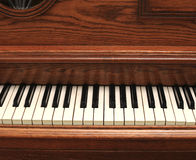 老钢琴样式 图库摄影