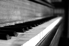老钢琴 库存照片